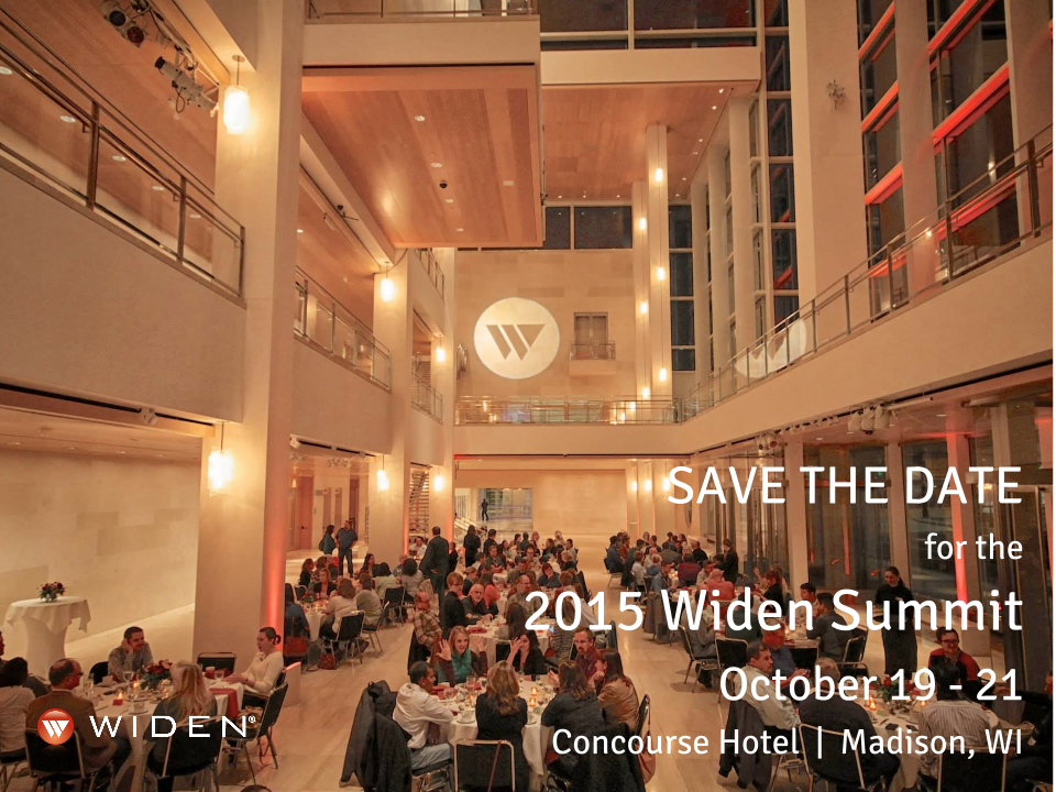 Save the Date for the 2015 Widen Summit