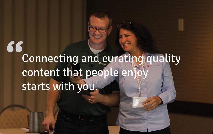 Connecting and curating quality content that people enjoy starts with you.