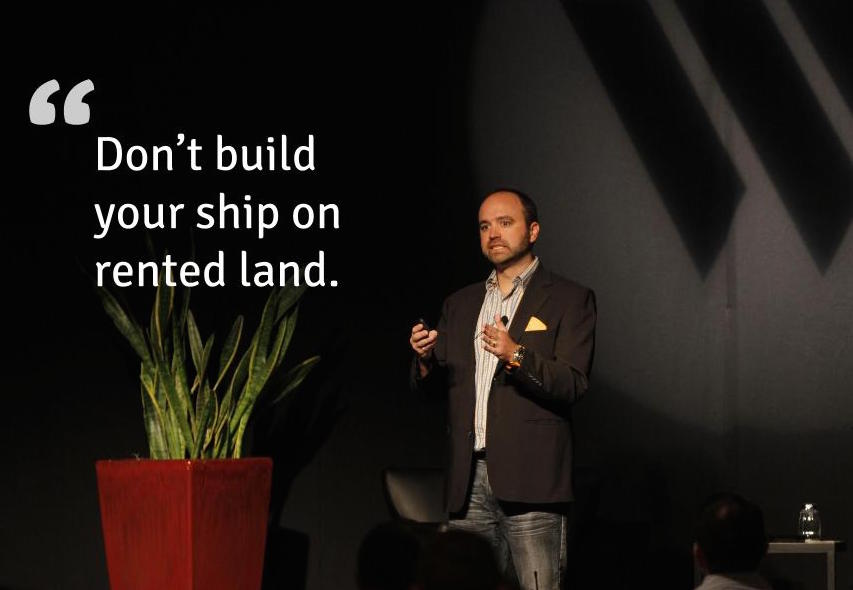 Don't build your ship on rented land.