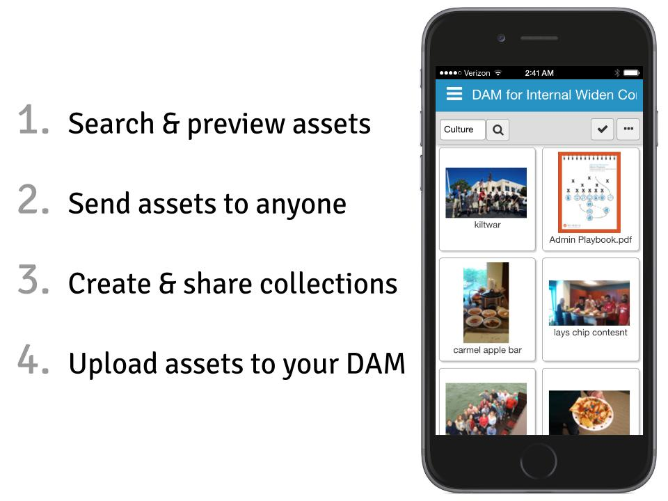 Widen Mobile App