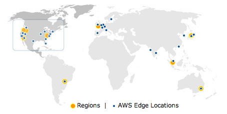 Amazon Web Services Regions and Edge Locations