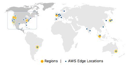 Amazon Web Services Regions and Edge Locations