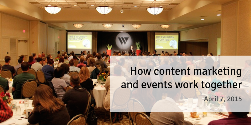 How content marketing & events work together