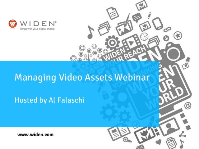 Managing Video Assets Webinar
