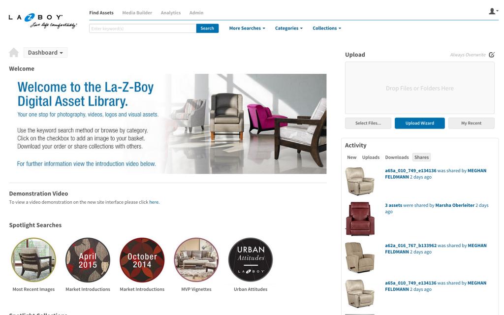La-Z-Boy Media Collective Dashboard