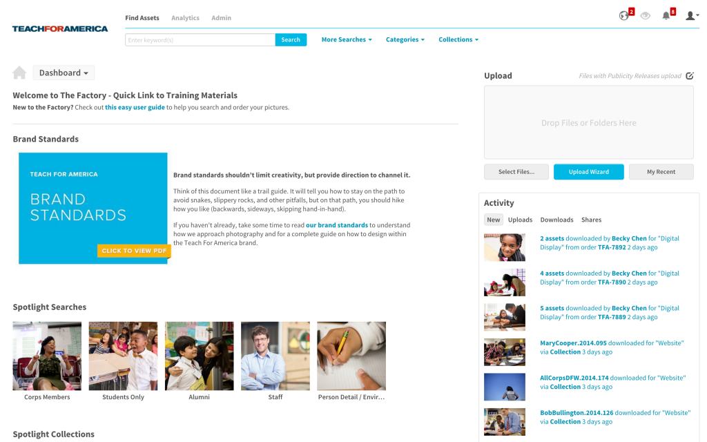 Teach For America Media Collective Dashboard