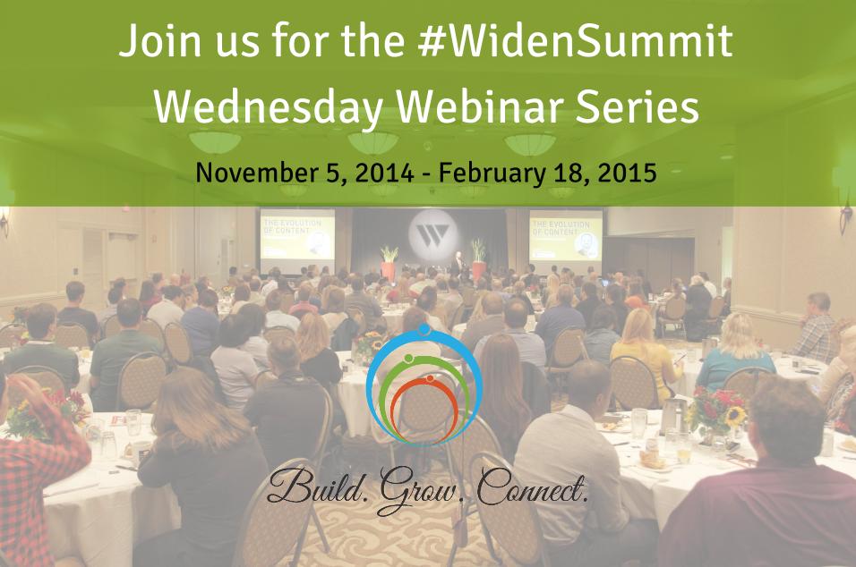 #WidenSummit Wednesday Webinar Series