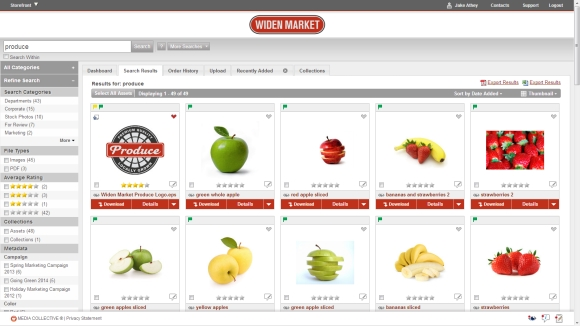 Widen Digital Asset Management Search and Filters