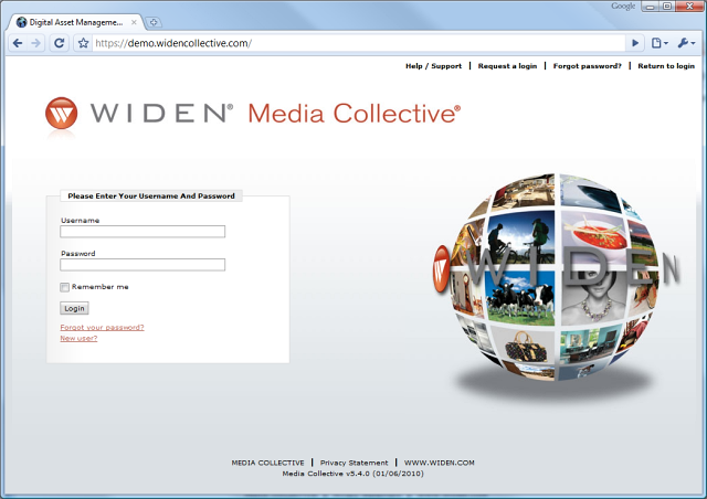 Widen DAM Demo Login
