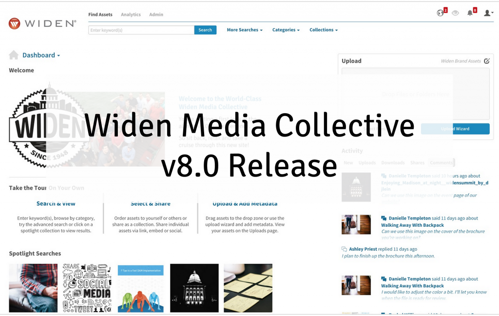 Widen Media Collective v8.0 Release