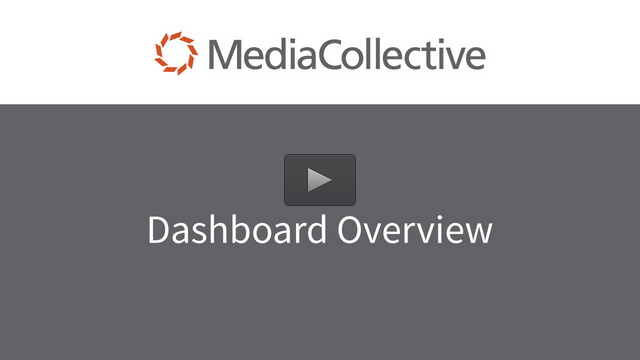 Widen Media Collective Dashboard Overview