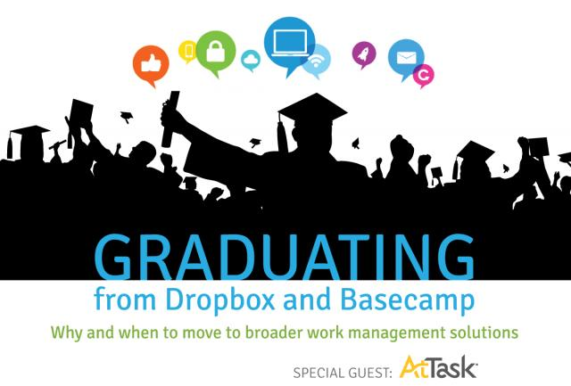 Graduating from Dropbox and Basecamp: When and why to move to more powerful marketing work solutions.