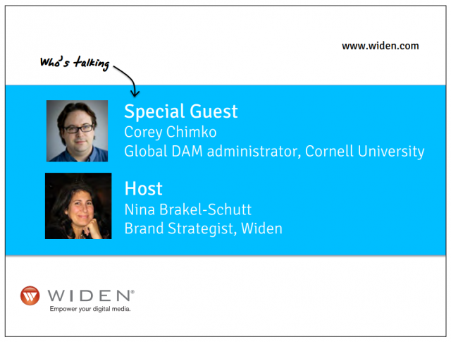 Widen Digital Asset Management in Higher Ed Webinar Speakers