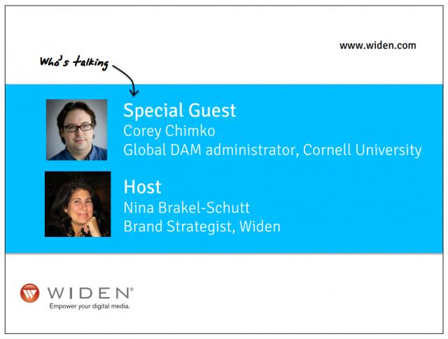 Widen Digital Asset Management in Higher Ed Webinar Speakers