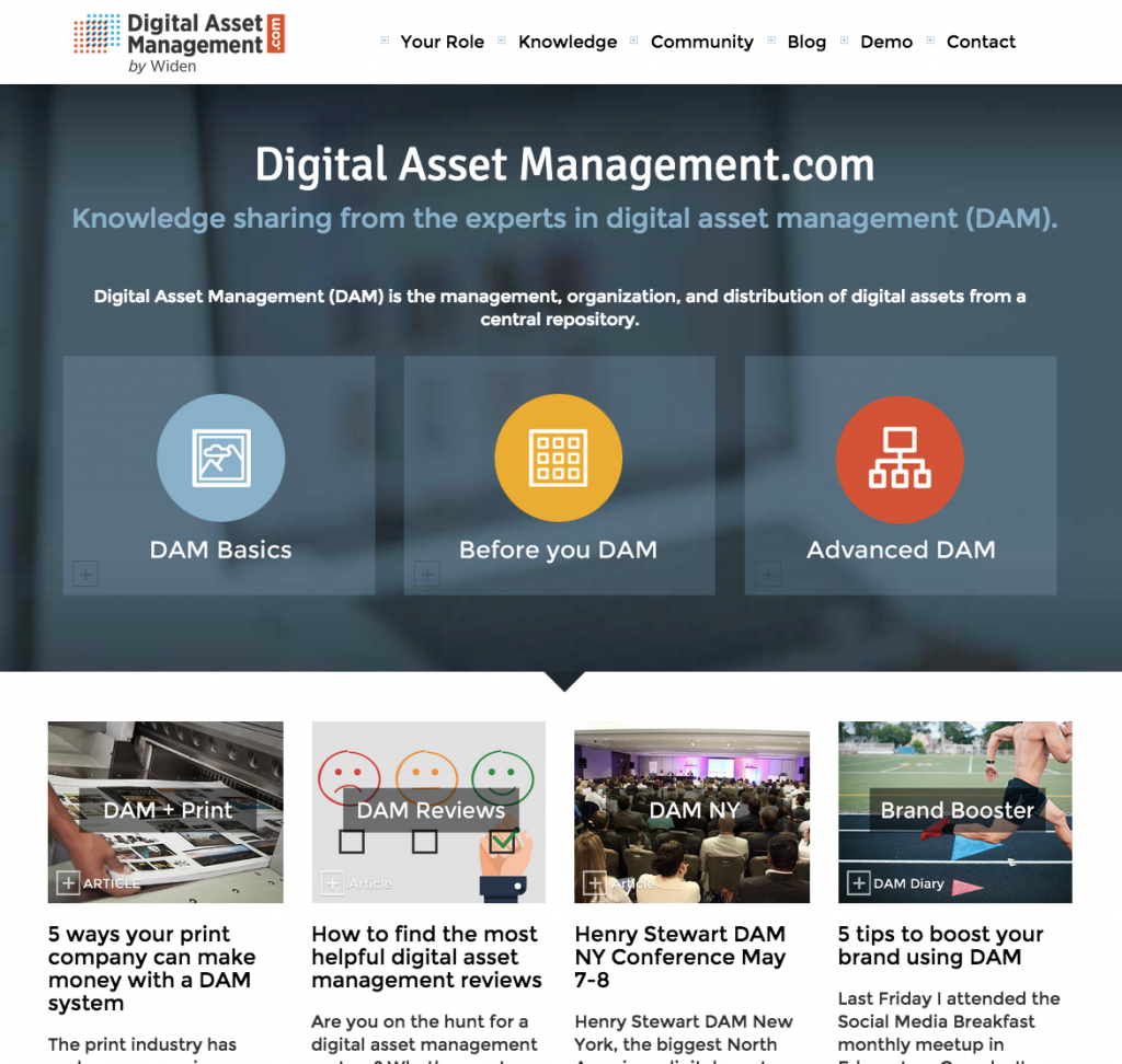 DigitalAssetManagement.com new website annoucement