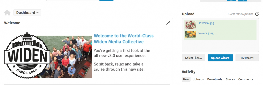 Widen Media Collective Uploads