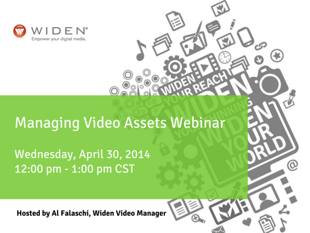 Join us the Managing Video Assets Webinar