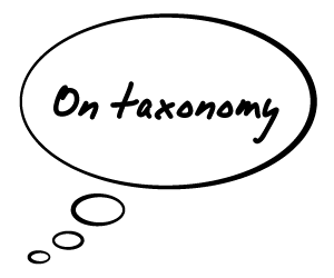 Thoughts on Taxonomy