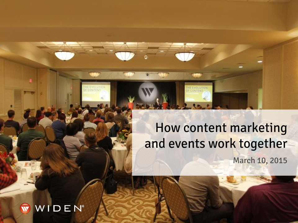 How Content Marketing and Events Work Together