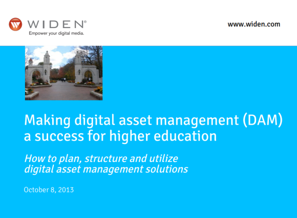 """Making digital asset management (DAM) a success for higher education"""