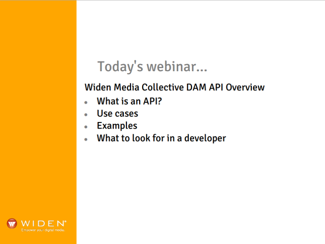 Widen DAM API Overview Webinar