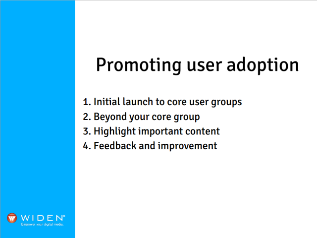 Promoting User Adoption