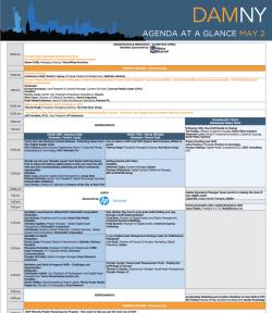 DAM NY 2013 Agenda at a Glance