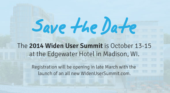 Save the Date for the 2014 Widen User Summit