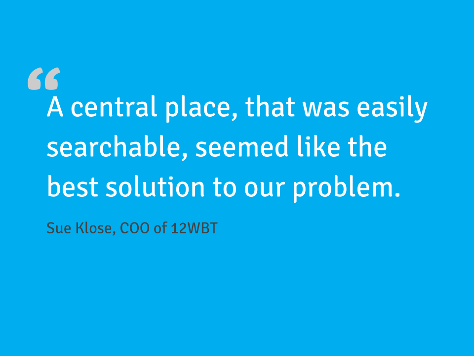 Customer quote from 12WBT