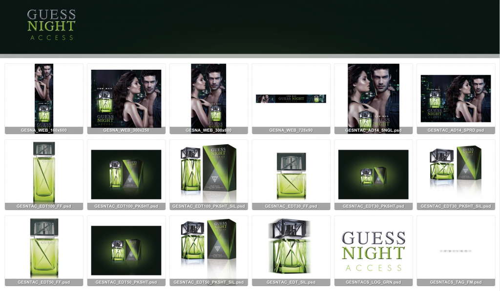 Guess Night Access cologne web banners