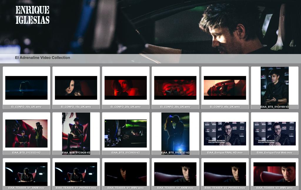 Enrique Iglesias' Adrenaline video collection