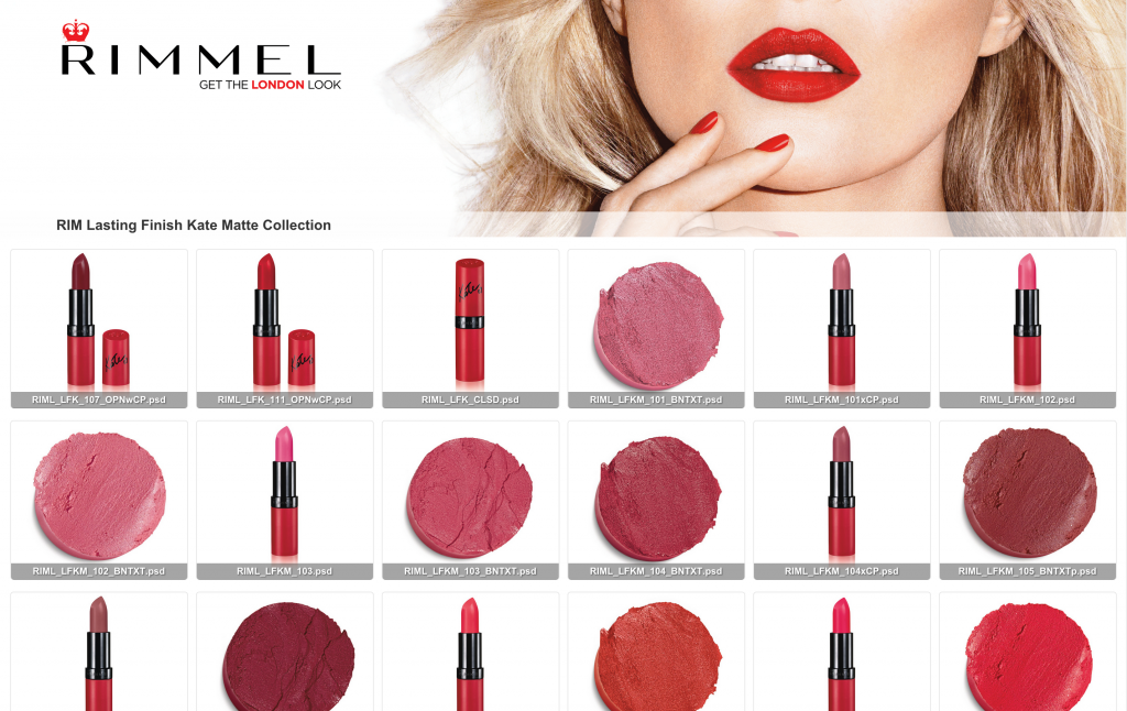 Rimmel Lasting Finish Kate Matte collection