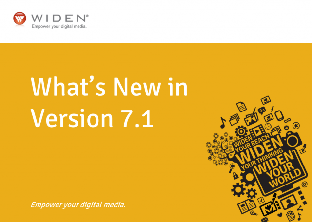 What's new in the Widen Media Collective version 7.1 webinar recording