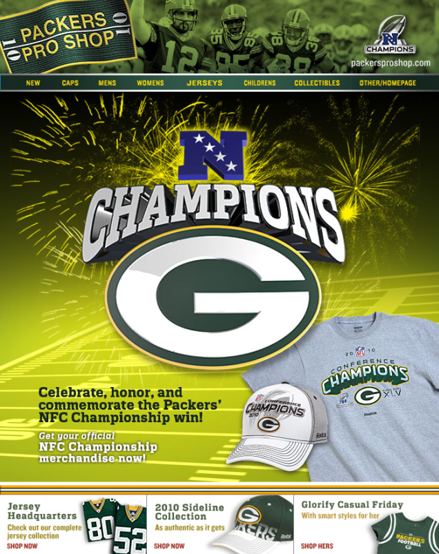 Packers Pro Shop Email - NFC Championship Apparel