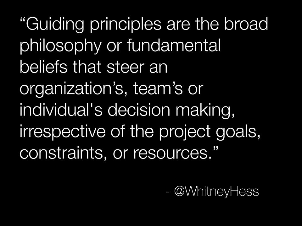 Guiding Principles 1