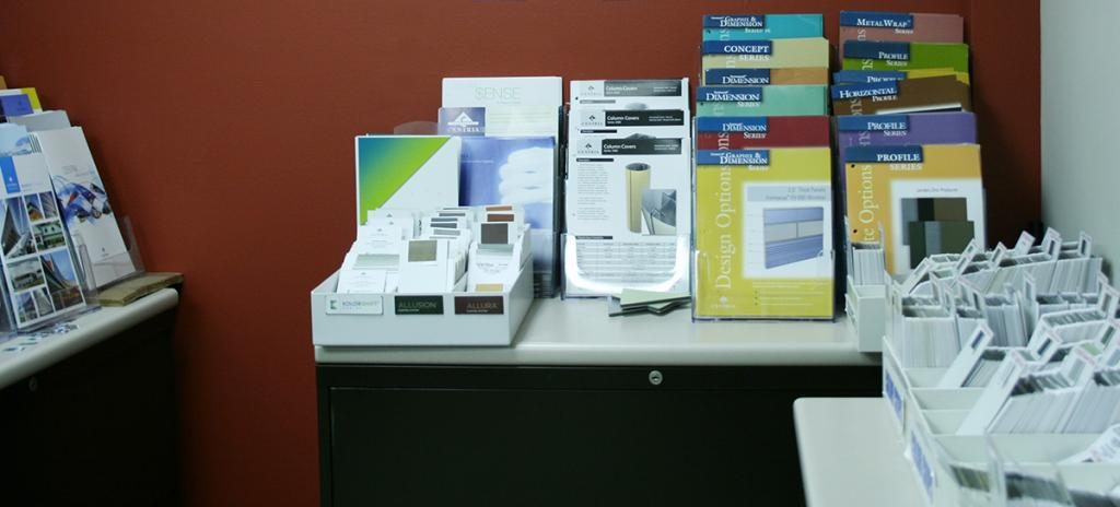 Centria sales materials and color chips
