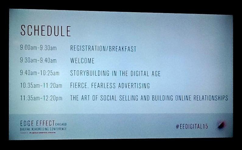 Edge Effect Schedule
