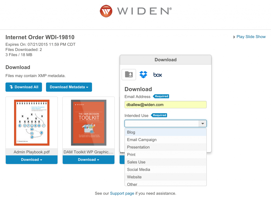 Widen Media Collective Intended Use