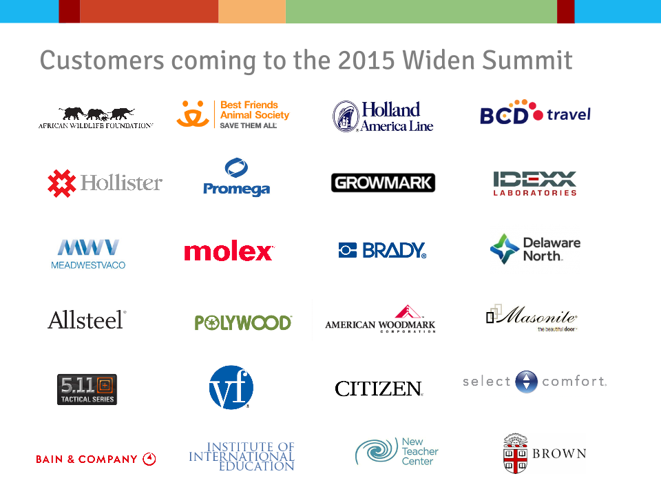 Widen Summit Customer Logos