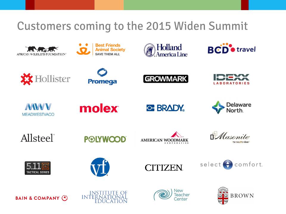 Widen Summit Customer Logos