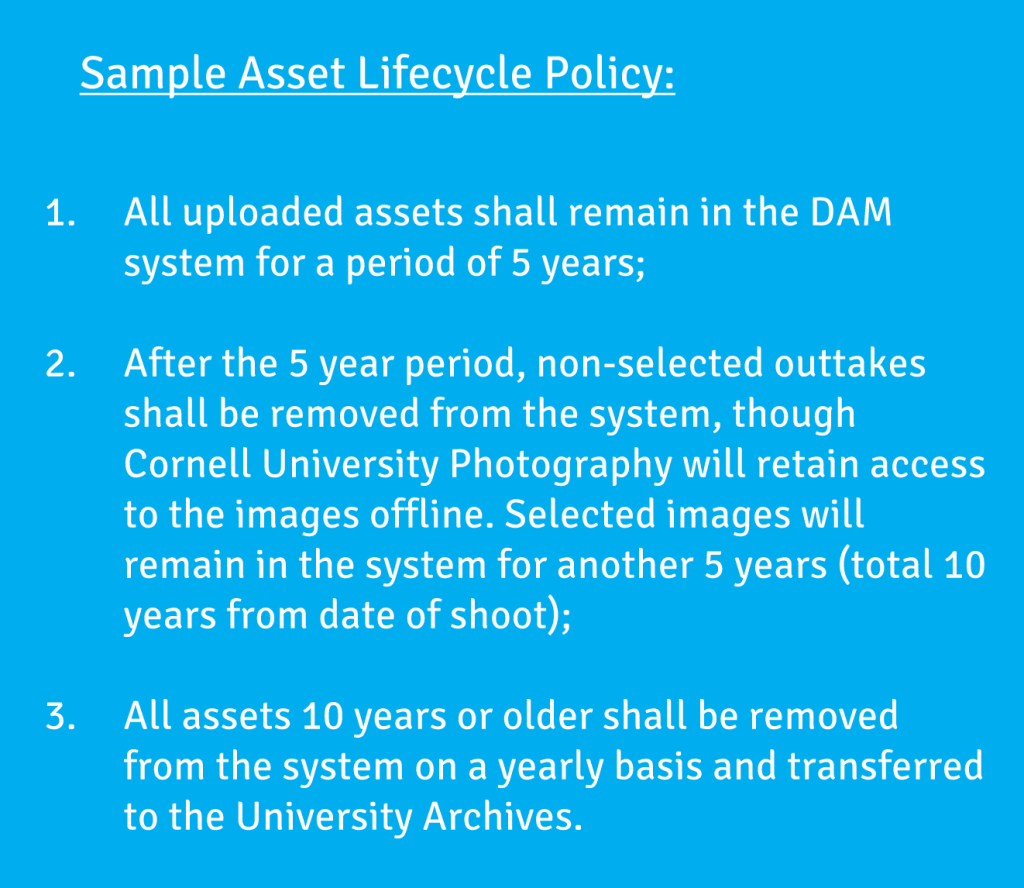 Digital Asset Management Lifecycle Policy