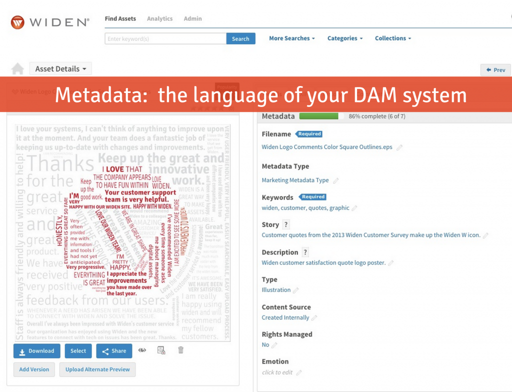 Metadata & Digital Asset Management Software
