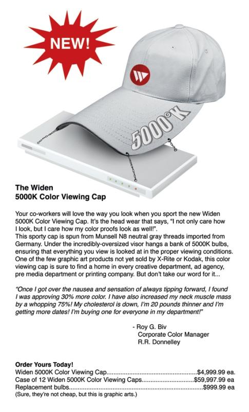 Widen Color Viewing Hat