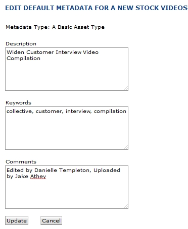 Applying Common Metadata with Asset Upload Profiles