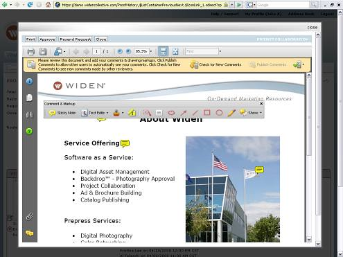 Widen Project Collaboration