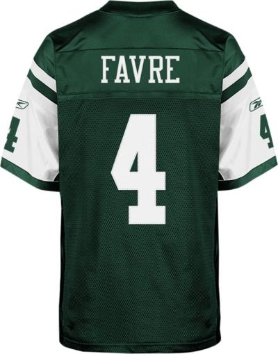 Brett Favre Jets Jersey Digital Sample