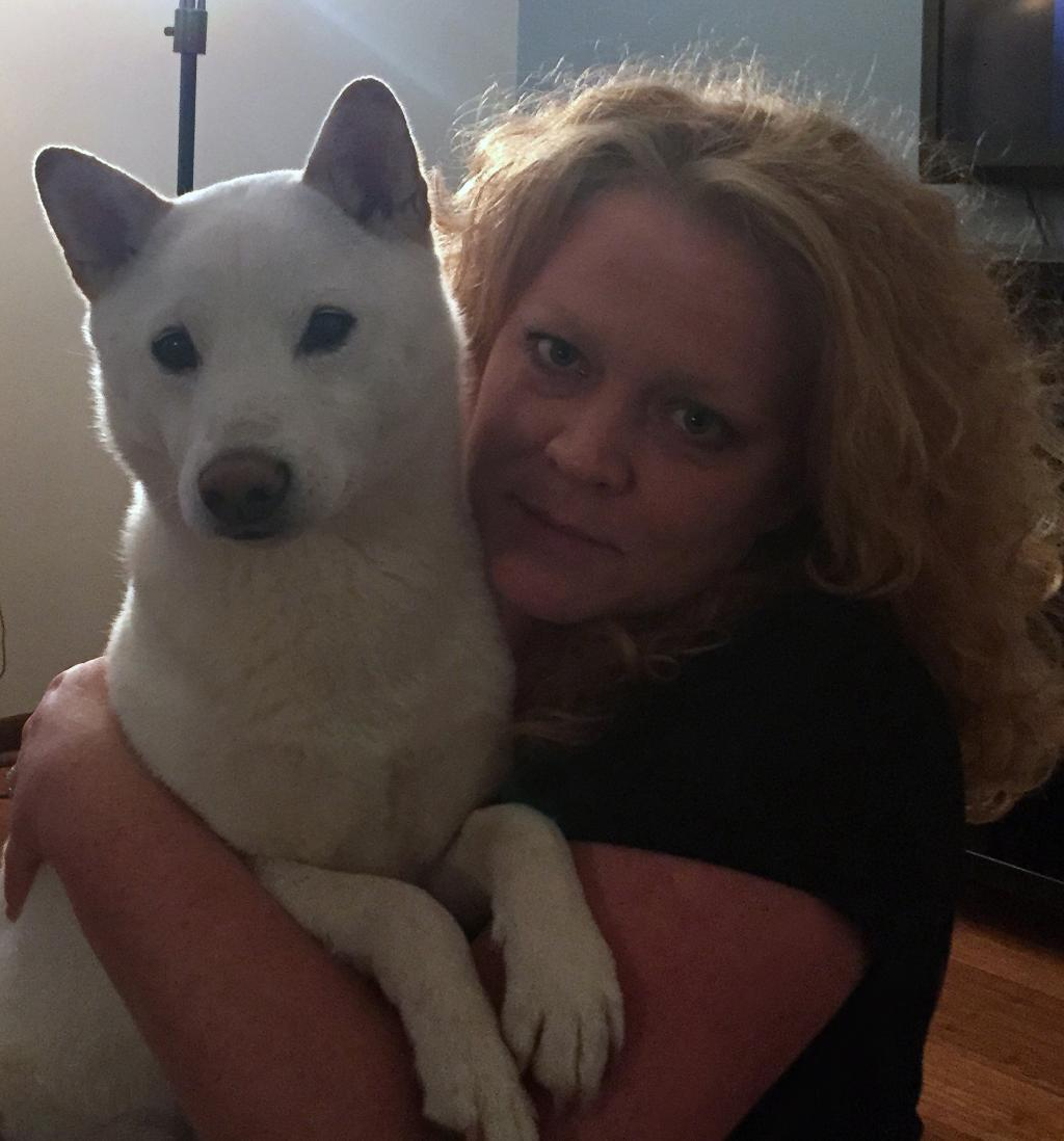 Danielle and her dog, Cooper