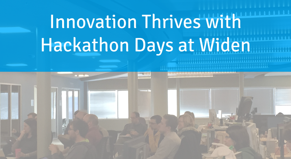 Innovation thrives with hackathon days at Widen