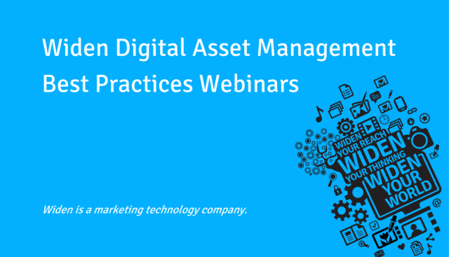 Widen Digital Asset Management Best Practices Webinars