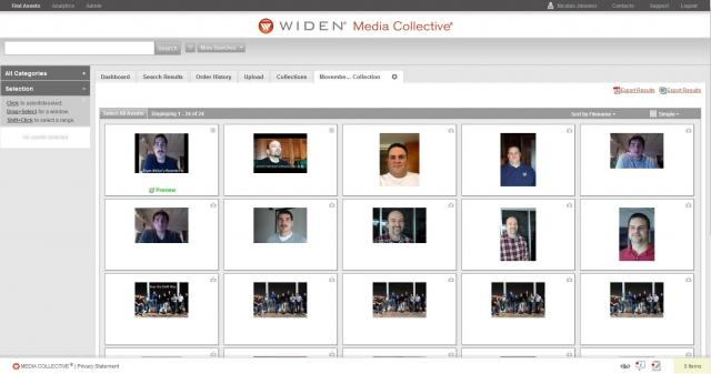 Widen Media Collective Collection page